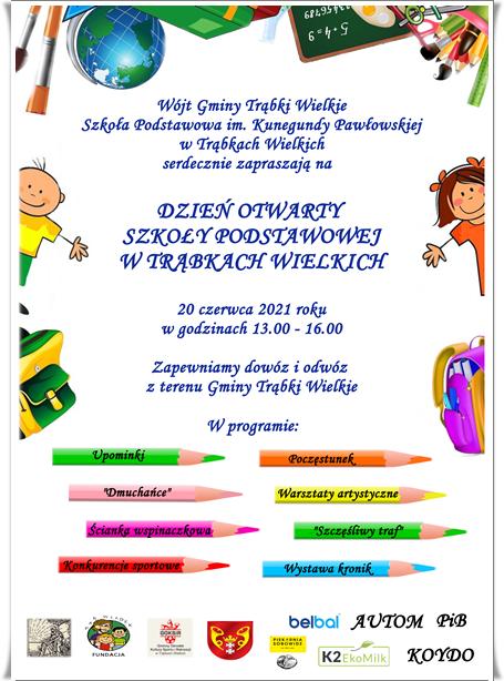 Plakat Dzień Otwarty Szkoły